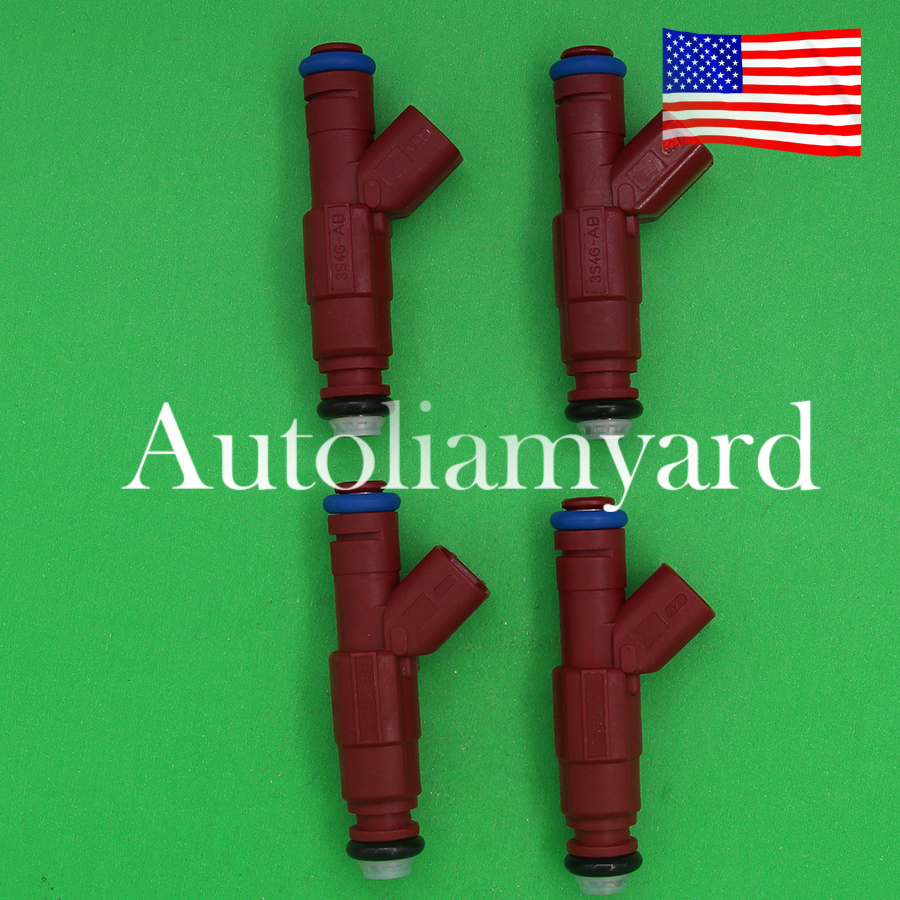 Pack Fuel Injectors direct fit Ford Focus 2.0 2.3 Replaces 0280156161 4