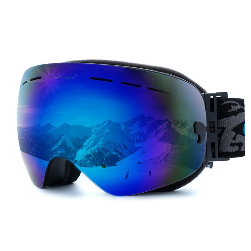 Skibrille Snowboard Brille Anti Fog Anti Beschlag Damen Herren Ski Multicolor