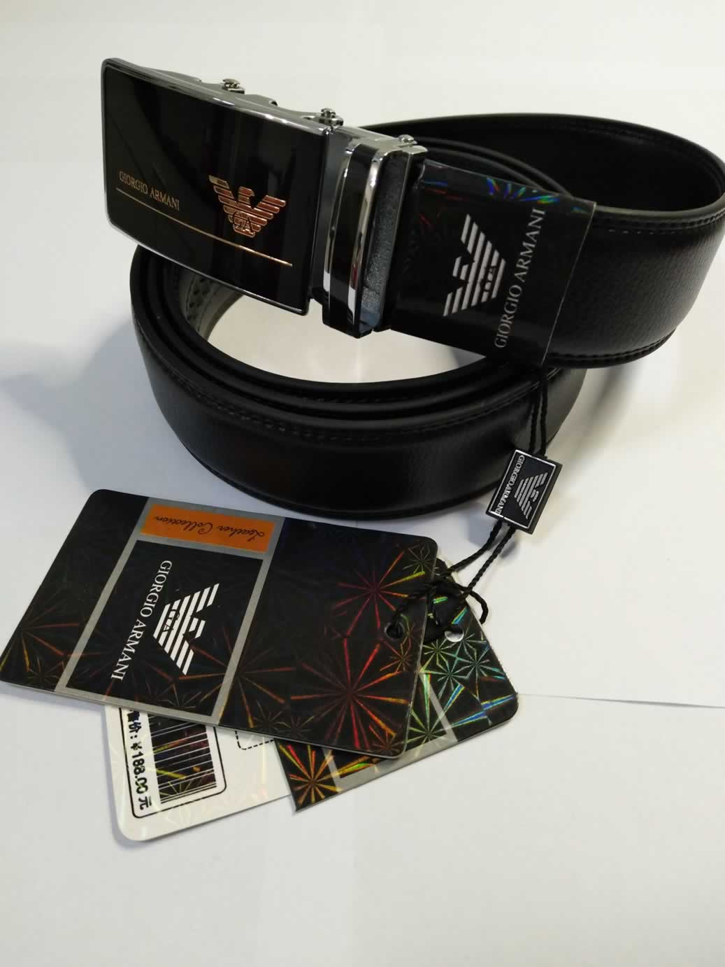 BS01 BLACK LEATHER MAN BELT 52/'/'  AOTUMATIC BUCKLE SHIPPING WITH TRACKING NUMBER
