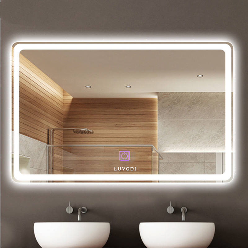 Led Wall Mounted Backlit Mirror Bathroom Vanity Makeup Dimmable Anti Fog
