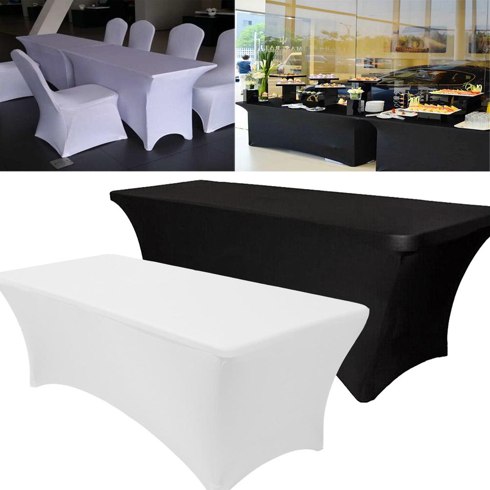 10PCS Spandex Stretch Tablecloth Folding Table Cover Rectangular Christmas  Xmas