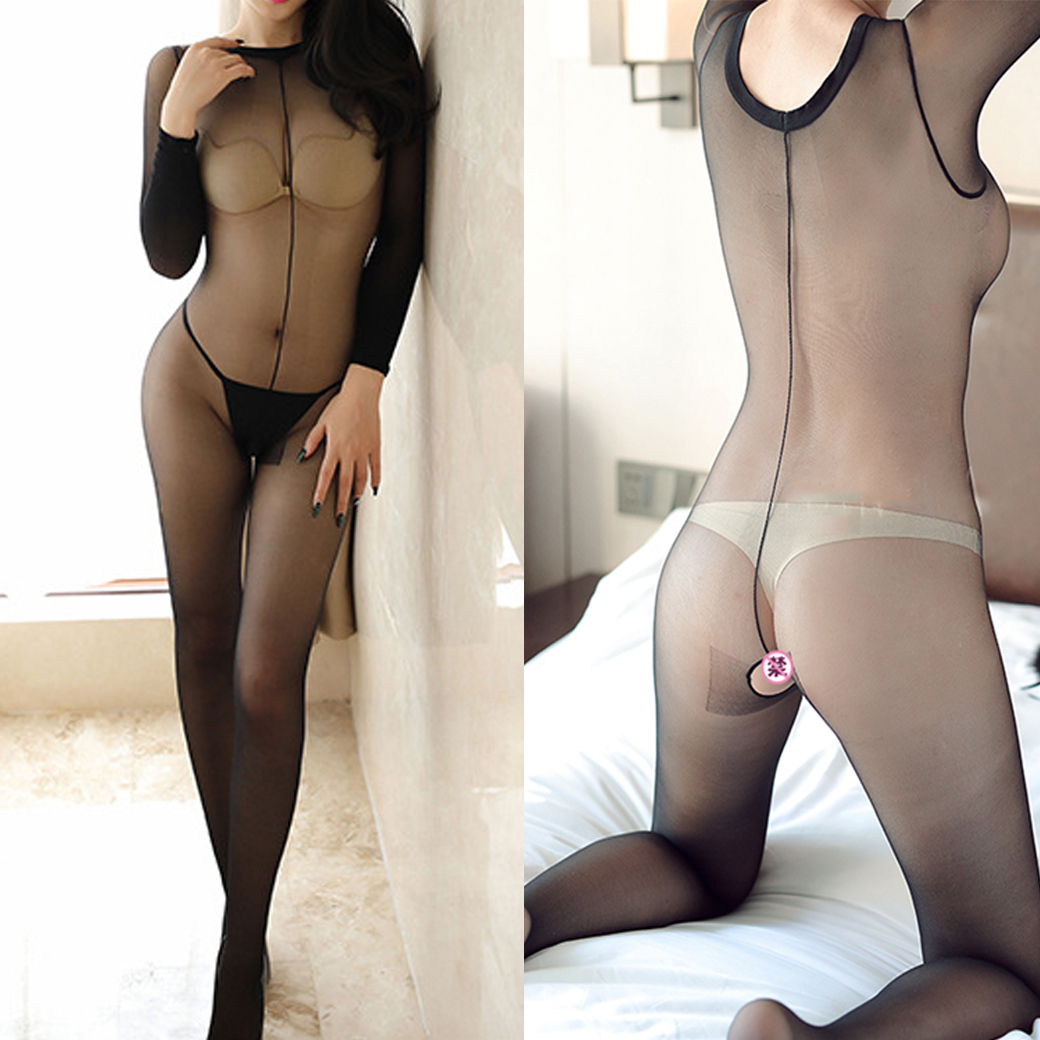 Sexy Pantyhose Elastic Crotchless Body Stockings Breathable Soft