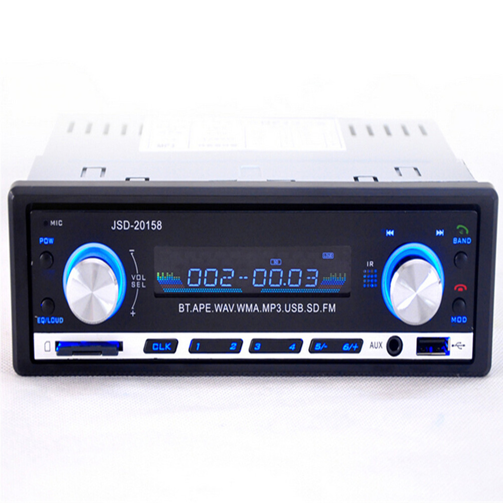 jsd 20158 single din car audio stereo sd mp3 receiver. Black Bedroom Furniture Sets. Home Design Ideas