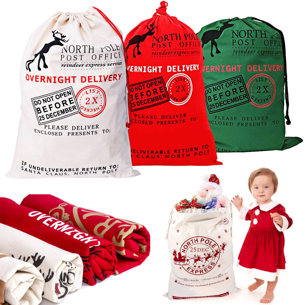 ff5917325d7 Details about 1-50X Wholesale Large Canvas Christmas Santa Sack Special Delivery  Xmas Gift Bag