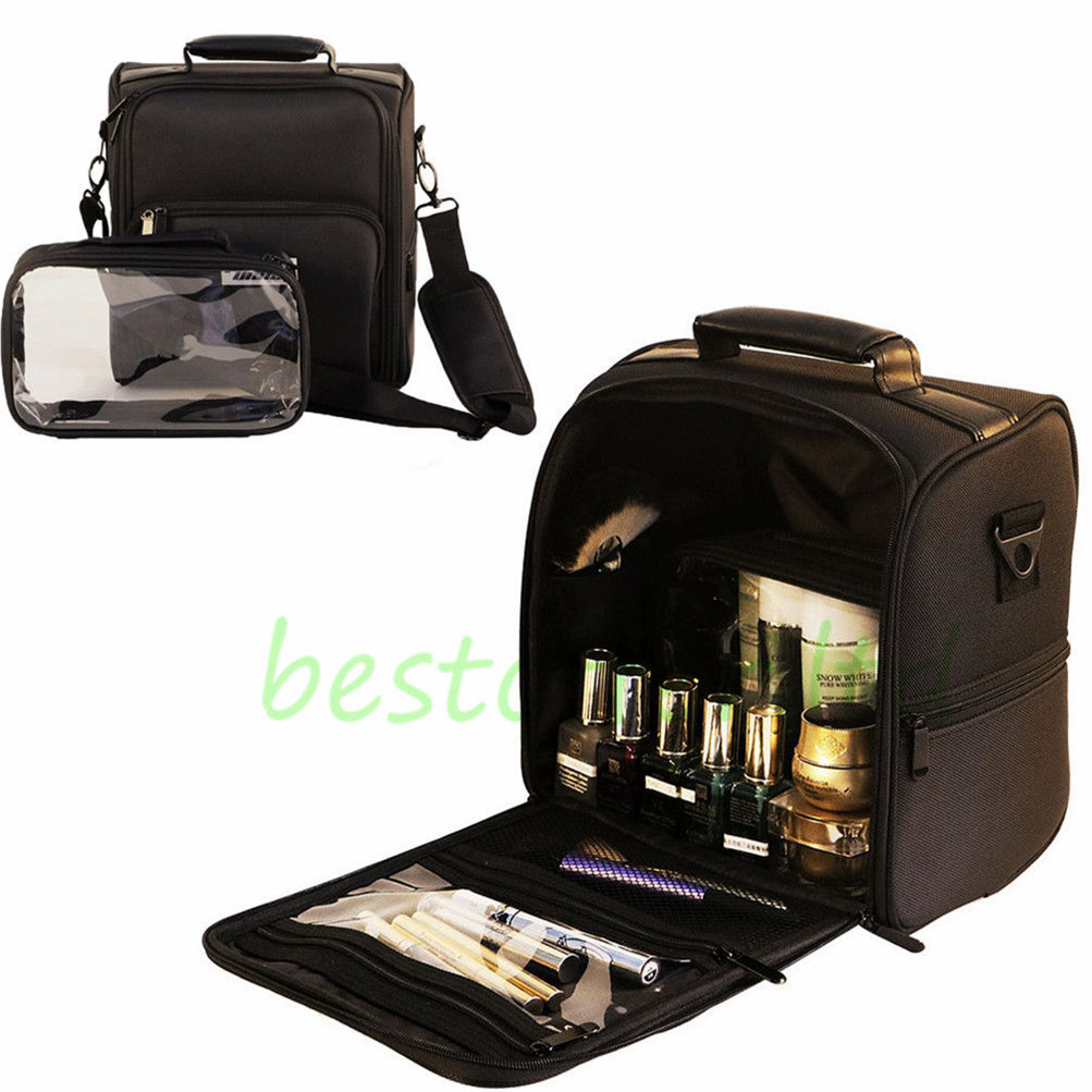 professional makeup bag cosmetic case storage handle
