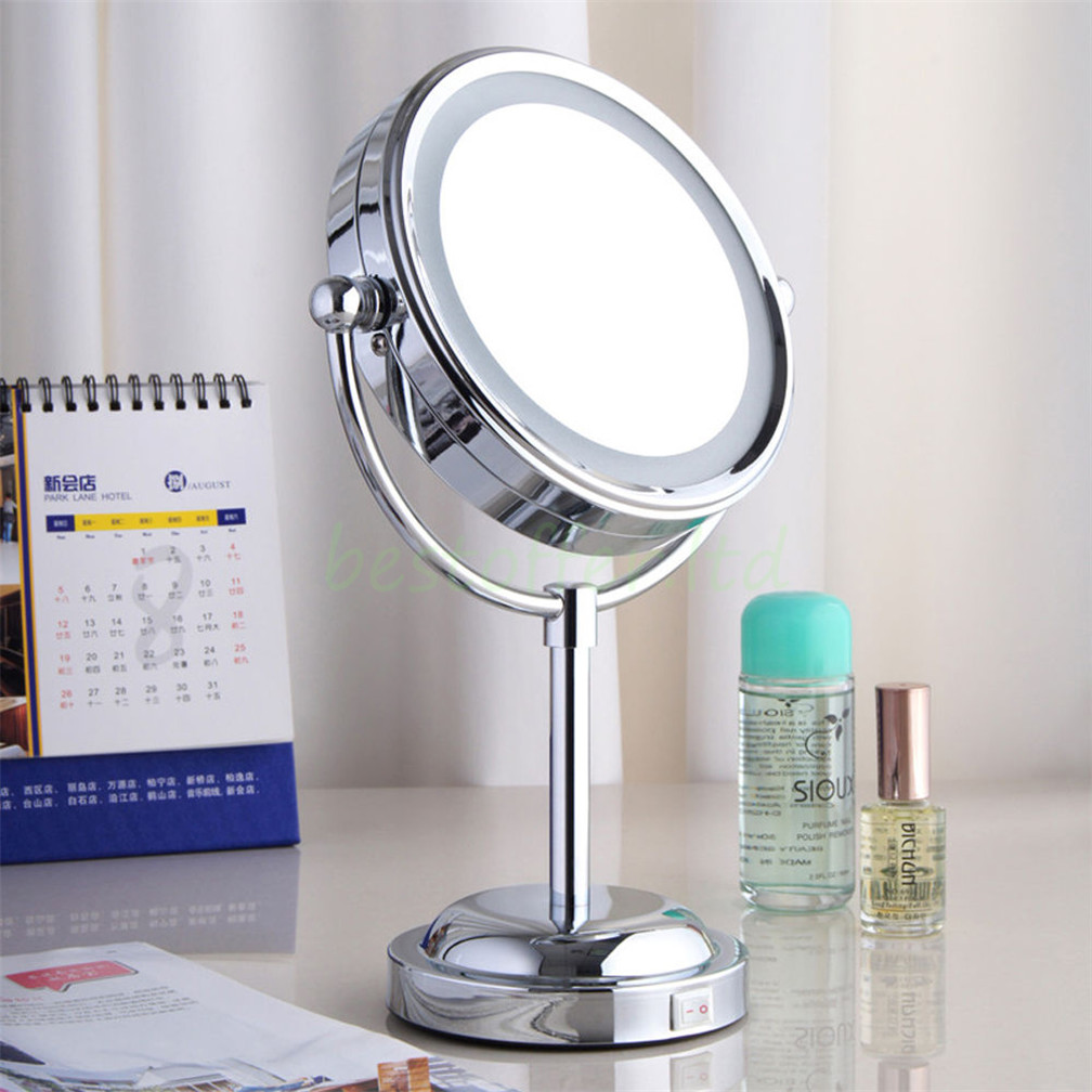 magnifying light lighting time jerdon led portable mirror with makeup youtube lighted tabletop review watch