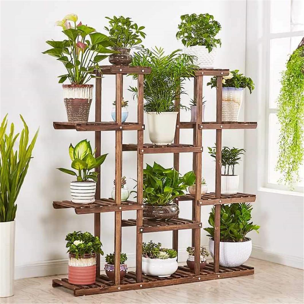 Flower Plant Display Rack Planter Stand