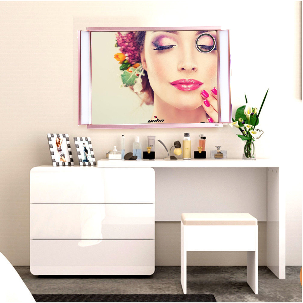 Vanity Girl Hollywood Broadway Lighted Mirror With Dimmer Rose Gold