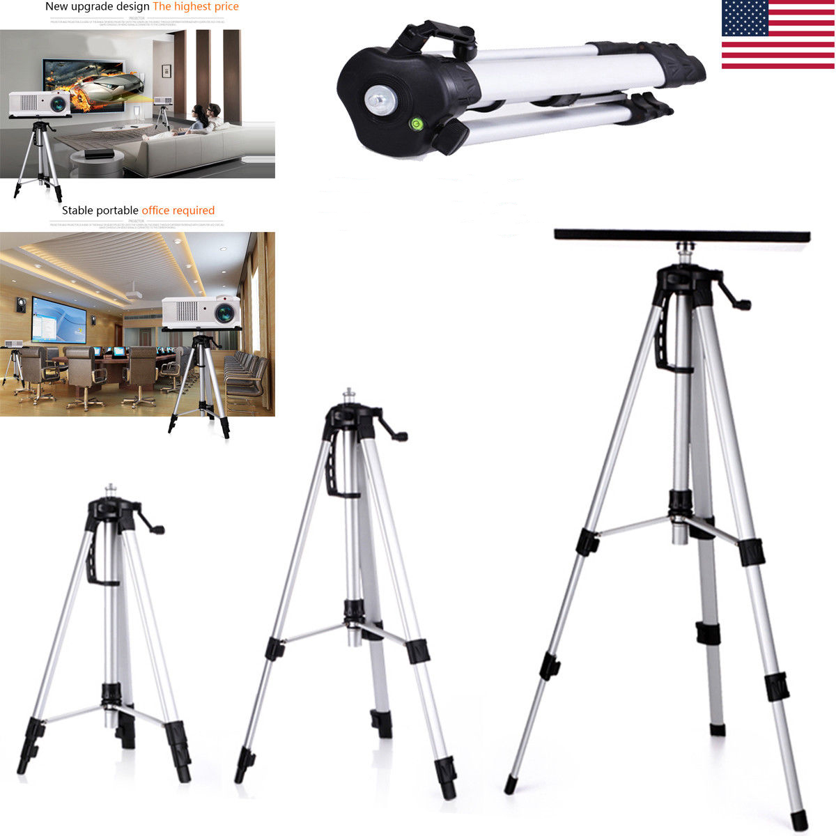 Beautiful Adjustable Tripod Stand For Tray Laptop HD Projector Camera Outdoor Home  Office
