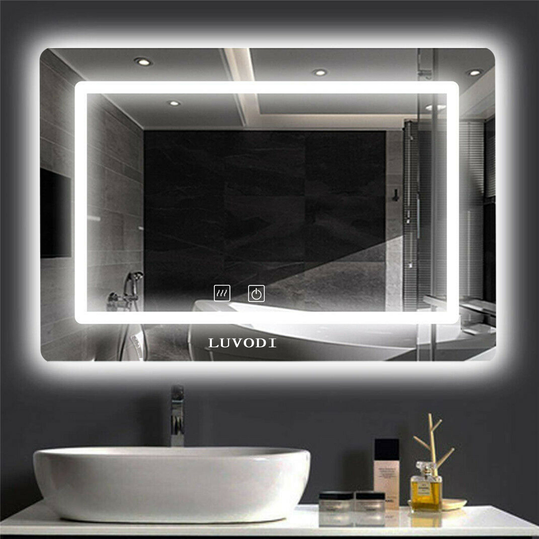 Bathroom Vanity Mirror Led Backlit Wall Mounted Defogger Dimmable Touch Switch Ebay