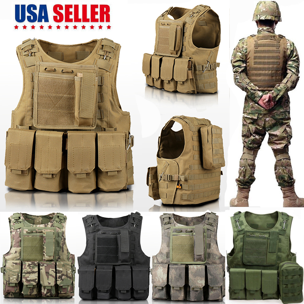 Army Military Molle Combat Airsoft Tactical Vest