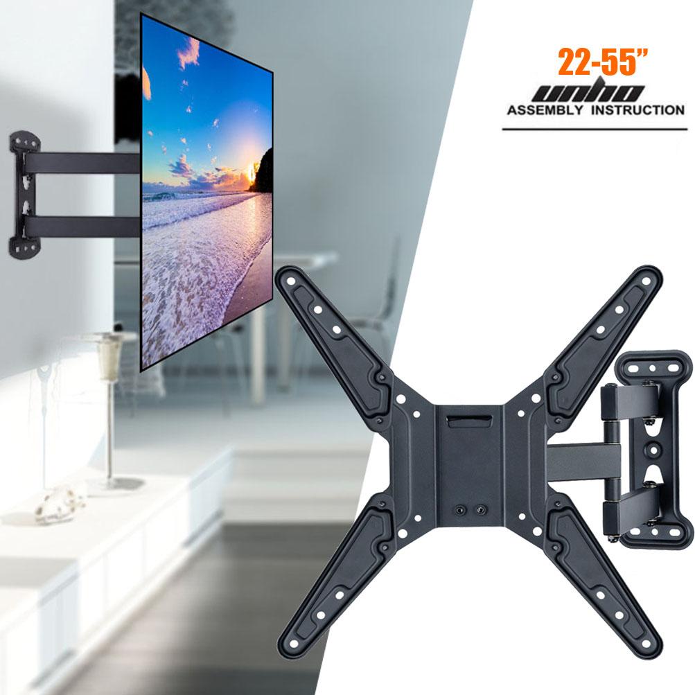 articulating tv bracket tilting swivel corner wall mount for 22 55 flat screen ebay. Black Bedroom Furniture Sets. Home Design Ideas