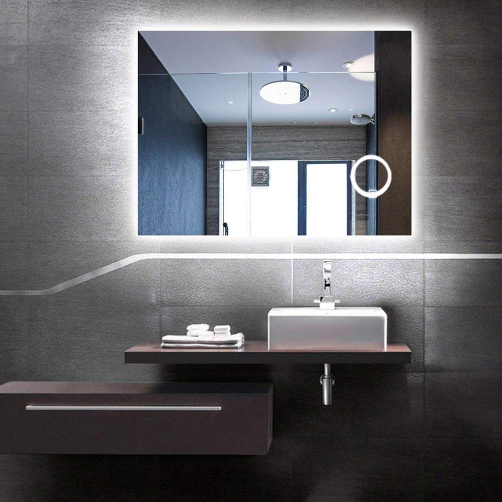 Details about Illuminated LED Bathroom Mirror Light Fogless Sensor 3X  Magnify - Makeup Shaving