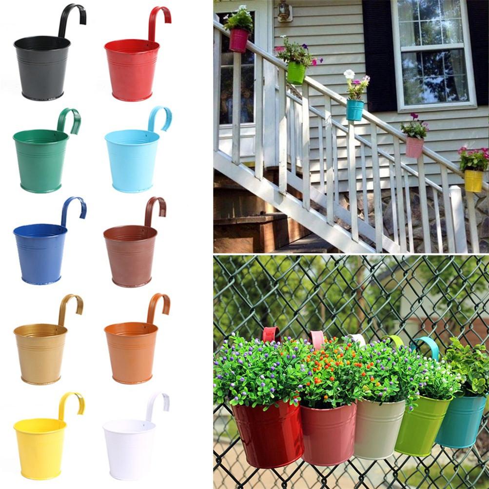 10PCS/LOT Iron Hanging Plant Basket Garden Succulent Flower Pot Hook  Decorations