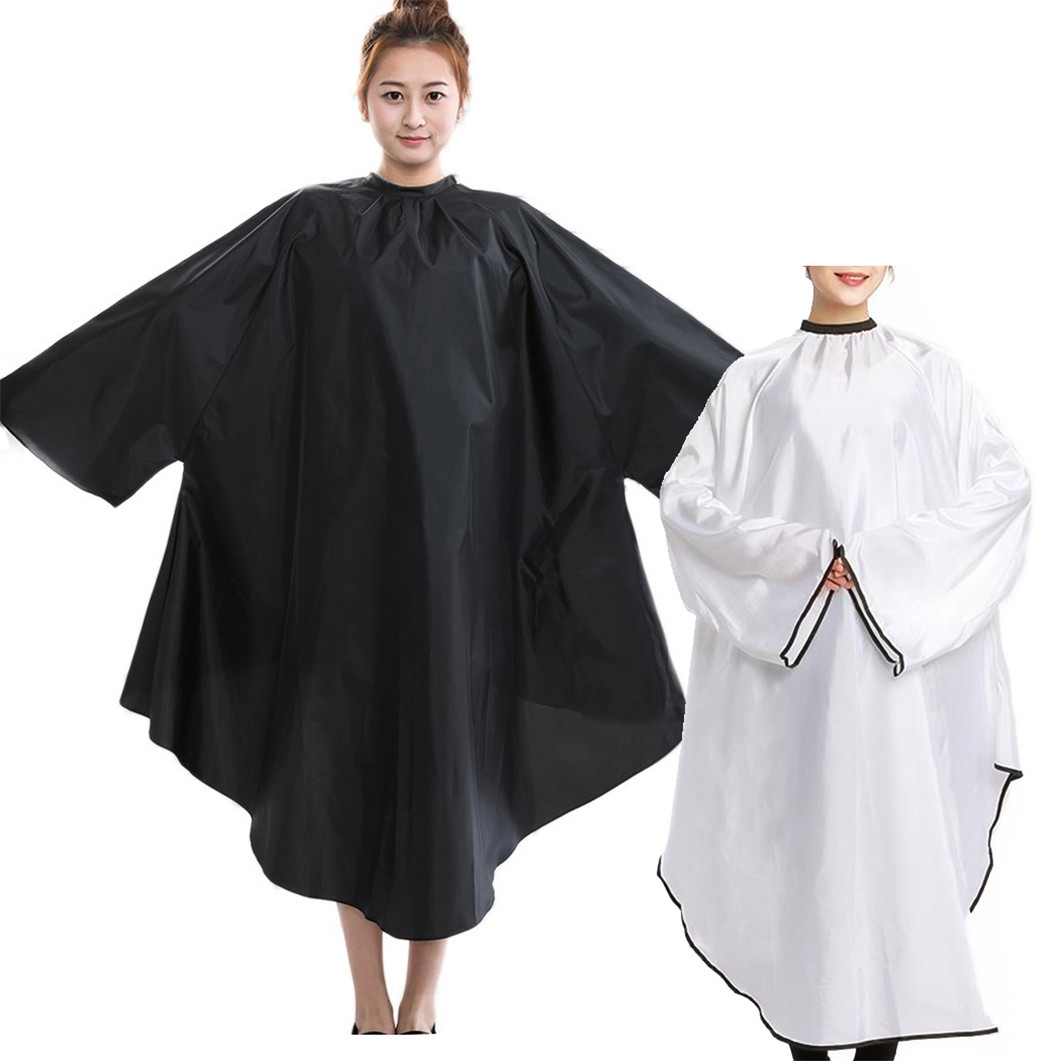 Details about Salon Client Hair Cutting Cape Gown Professional Barber  Haircut Cape with Sleeve