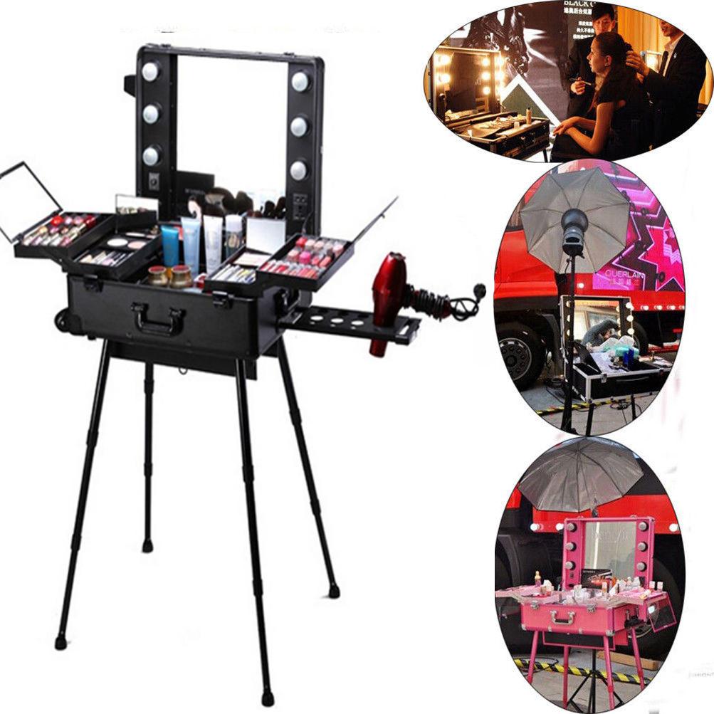 Professional Makeup Case Light Station Large Portable