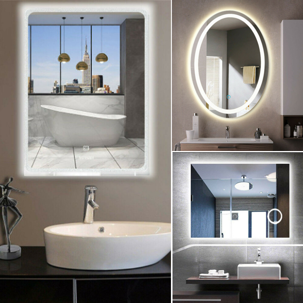 Frameless Bathroom Mirrors | Details About 11 Design Large Frameless Wall Mount Bathroom Vanity Mirror Anti Fog Glass Panel