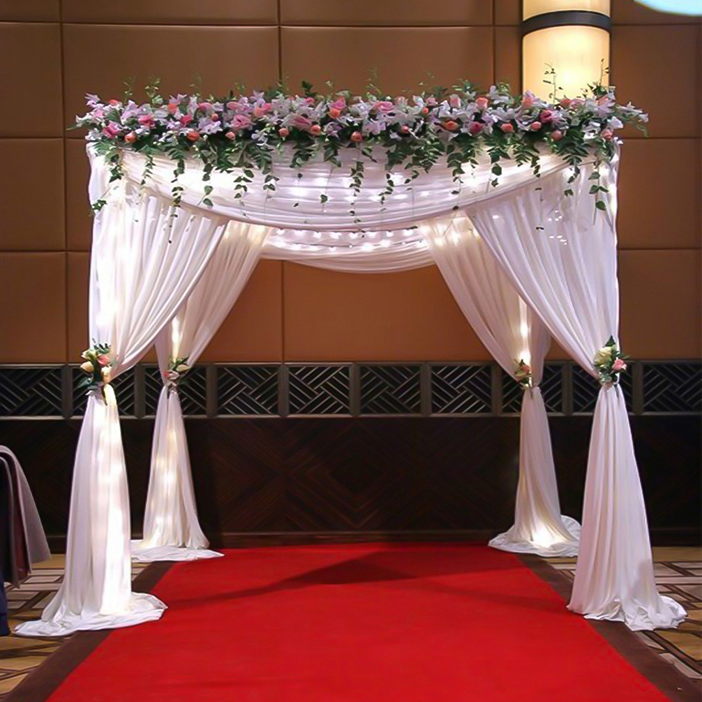 Wedding Chuppahs For Sale: 10ft BACKDROP STAND KIT Adjustable Height Wedding Ceremony