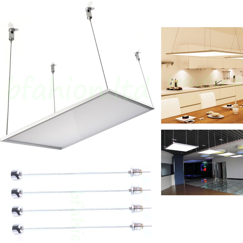 Details About Led Flat Panel Light Kit Suspension Fixture Systems Suspension Cables Hanging