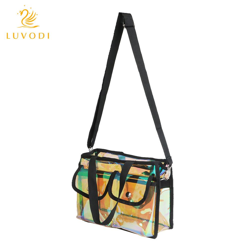 30a4e20b63 Clear Tote Bag Crystal PVC Vinyl Studded Transparent Sports Shoulder ...