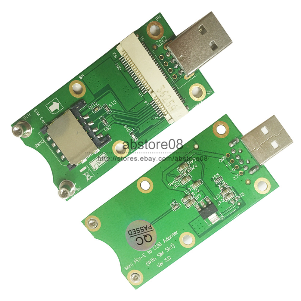 1X Mini PCI-E to USB Adapter With SIM card Slot for WWAN//LTE Module