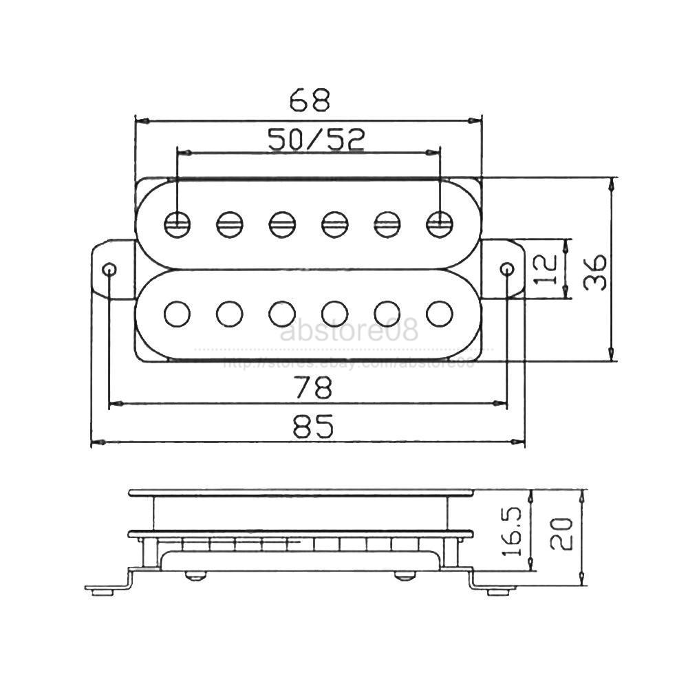 Set Of 2pcs Invader Style Ceramic Magnet Pickup Humbucker Neck Amp Suhr Wiring Diagram 2 Hum Bridge