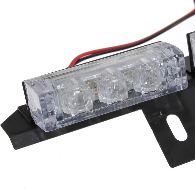 auto lkw 54 led strobe blinklicht warnleuchte dc12v wei. Black Bedroom Furniture Sets. Home Design Ideas