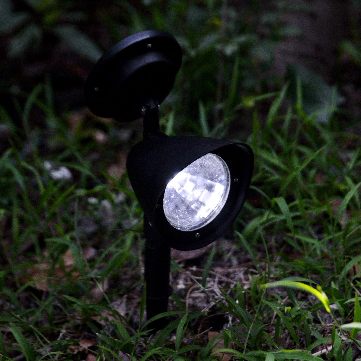 4 led solar spotlight outdoor spot light garden yard lawn. Black Bedroom Furniture Sets. Home Design Ideas