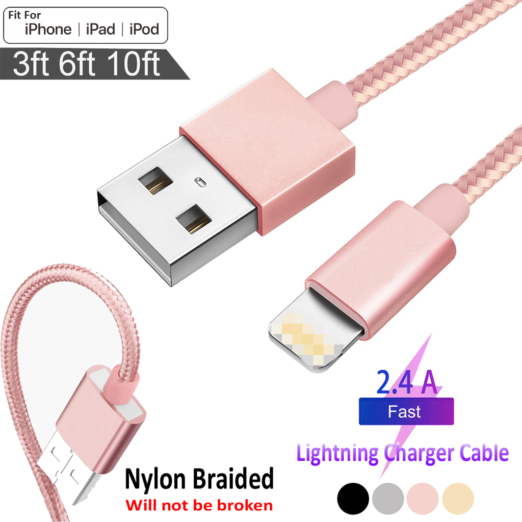 Detalles de Usb Cable Cargador Cable datos para iPhone 5 5s 6 6s 7 8 11 Plus X XS MAX 123M