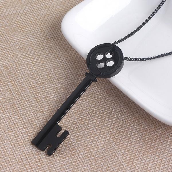 Coraline The Secret Door Black Key Pendant Necklace Halloween Party Jewelry Ebay