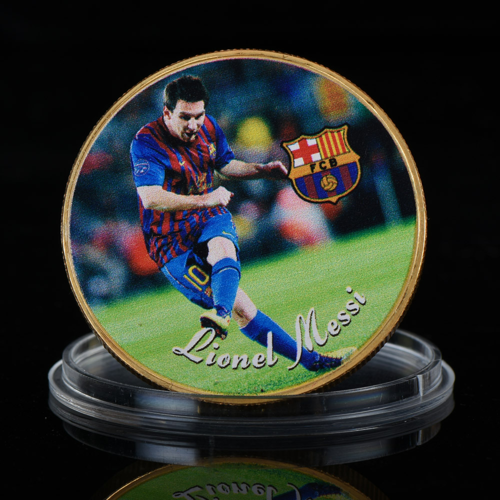 Lionel Messi A Look At The Barcelona Star S Sensational: WR Lionel Messi Football Star 24k Gold Plated Coin FC