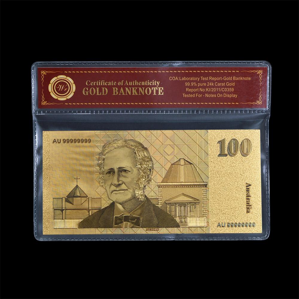 3 x $20 AUSTRALIA UNCUT SHEET 3 BANKNOTES GOLD BANK NOTE 24K GOLD POLY BANK NOTE