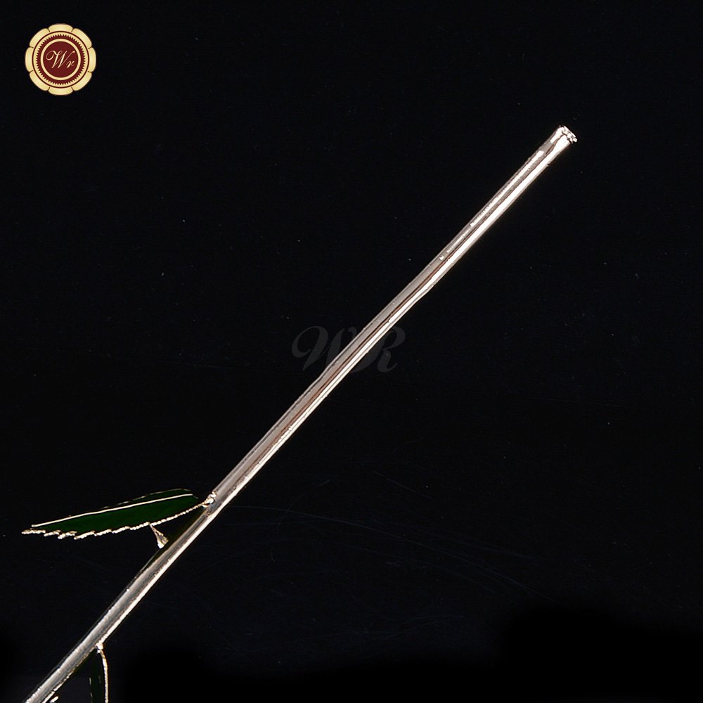Aliexpress Com Buy Wr Romantic Rose 24k Gold Dipped: WR Everlasting White Rose 24K Gold Dipped Natural Flower