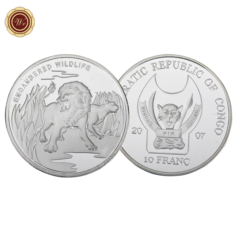 WR Endangered Wildlife Lion Africa Congo 10 Franc Animal