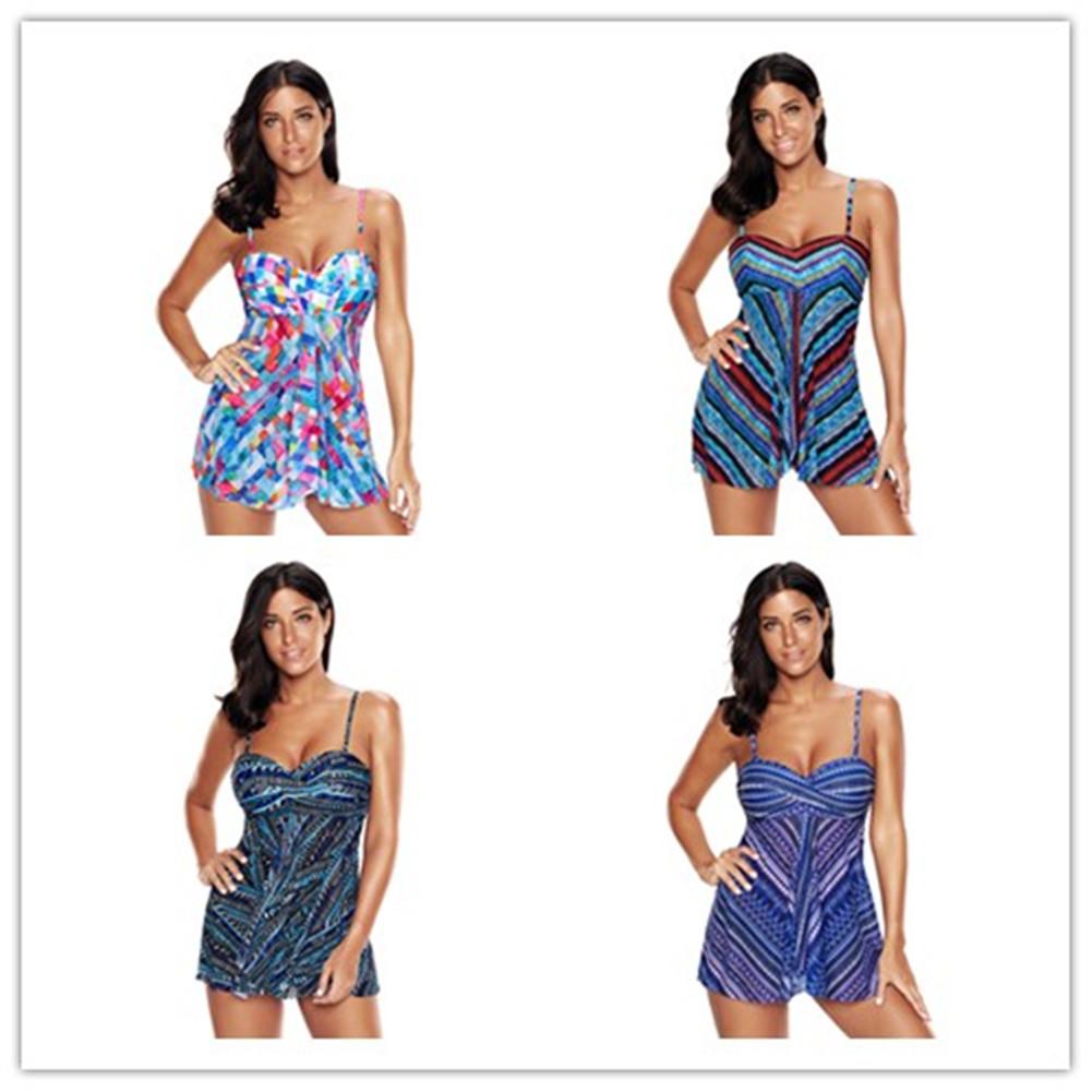 7396835137 Details about PlusSize Women Two Piece Tankini Push-up Bikini Swimdress  Swimsuit Bathing Suit