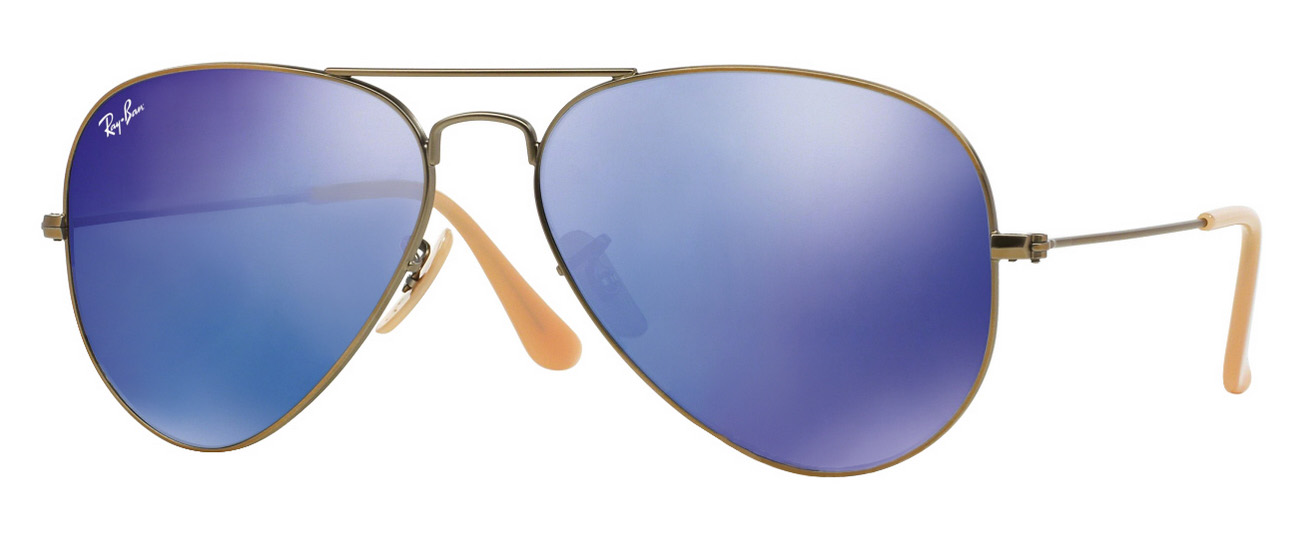 5396a94c839b7a NEW Ray-Ban Aviator Sunglasses RB3025 167 68 Bronze Blue Mirror 58 Free  Shipping