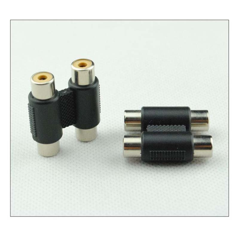 81B6 3.5mm Stereo Audio Female to Female Socket Adapter Coupler Connector Joiner