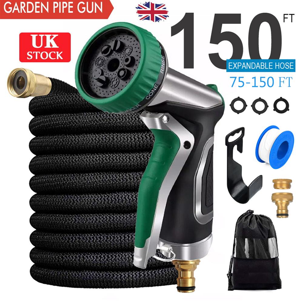 Expandable Garden HOSE/&Alloy Flexible 75//100//150FT PIPE Expanding With Spray Gun