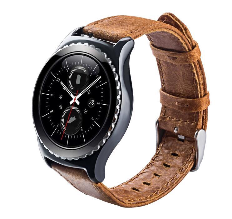 Bracelet montre cuir véritable bande pour Samsung gear S3 classic/frontier  22MM