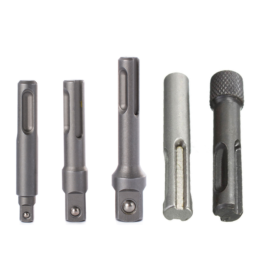 Drill Bits 2 Pcs Sds Handle Electric Hammer Convert Hex Shank Adaptor Magnetic Drilling Tools Extension Driver Set Power Tool Accessories
