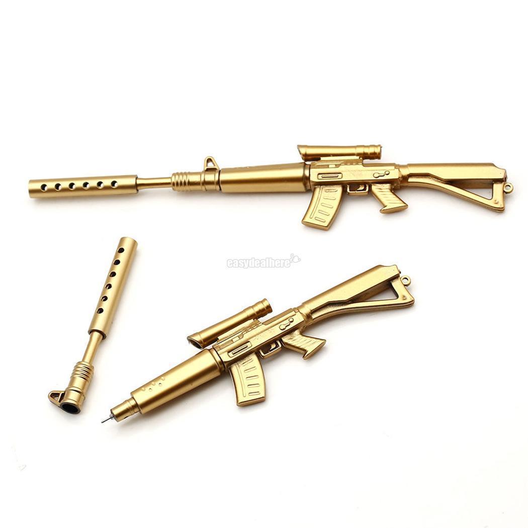 Details about Novelty Rifle Golden Gun Shaped Pen Key Ring School  Stationery Gift - UK