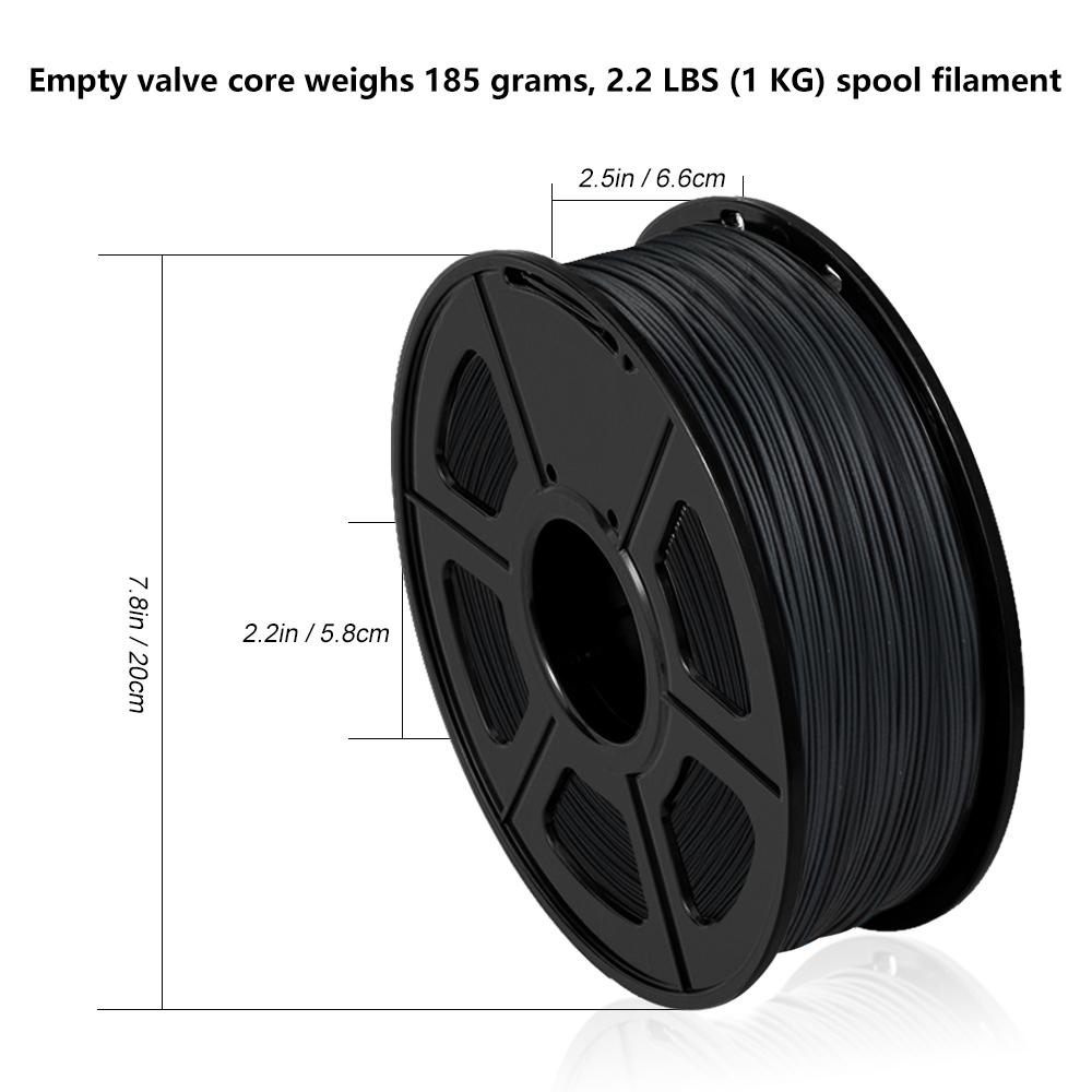SUNLU 3D Printer Filament PLA Carbon Fiber 1.75mm 1KG/2