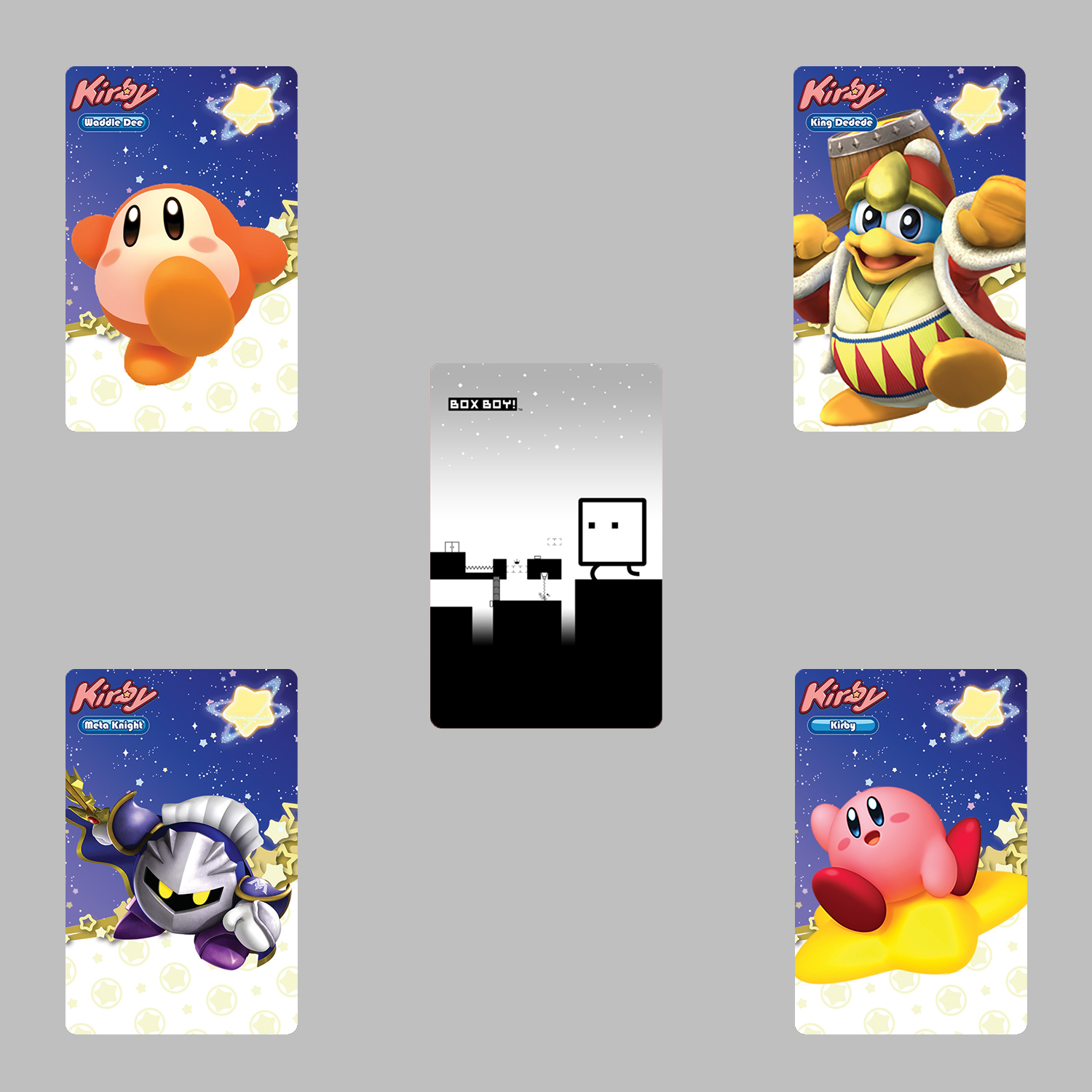 Details about Kirby Star Allies & BoxBoy QBBY 5PCS PVC NFC Tag Game Cards  for Switch/Wii U