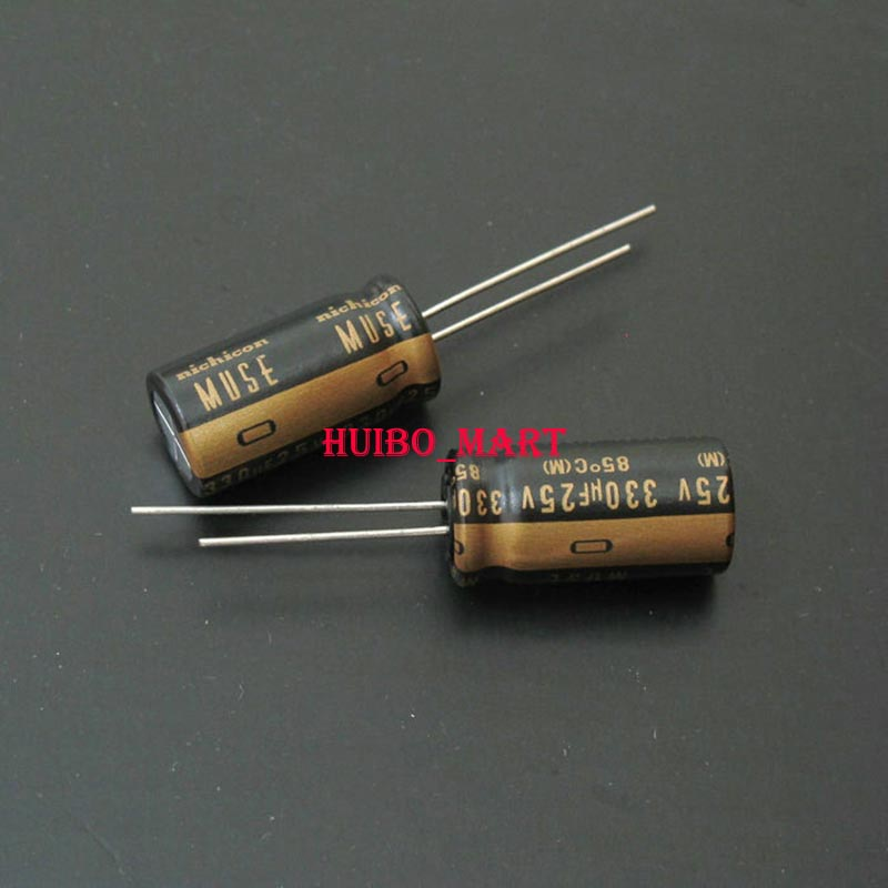 10pcs Original Nichicon MUSE KZ 100uF//25V Top audio electrolyte capacitor