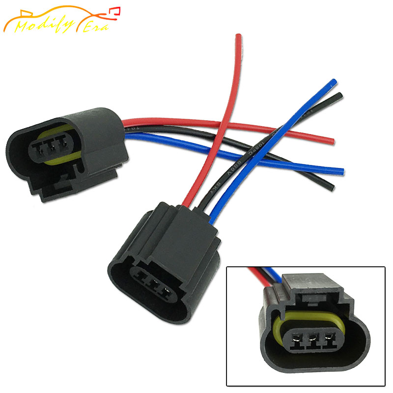 Fine 2Pcs H13 9008 Female Adapter Wiring Harness Sockets Wire For Wiring Digital Resources Xeirawoestevosnl