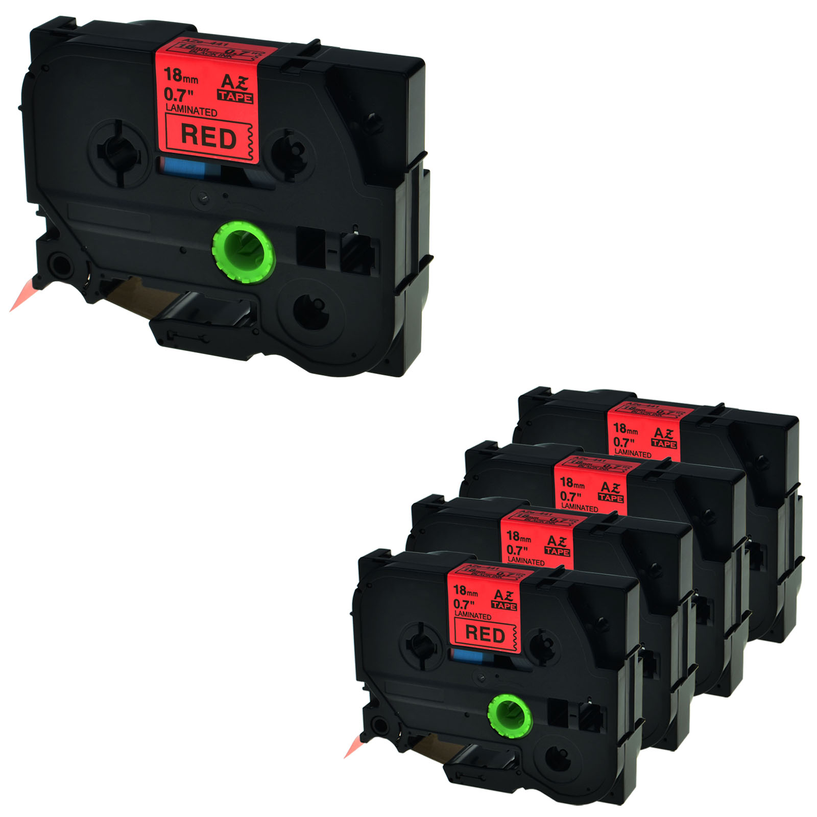 """3PK TZe441 TZ441 Black On Red Label Tape For Brother P-Touch PT-D400 18mm 3//4/"""""""