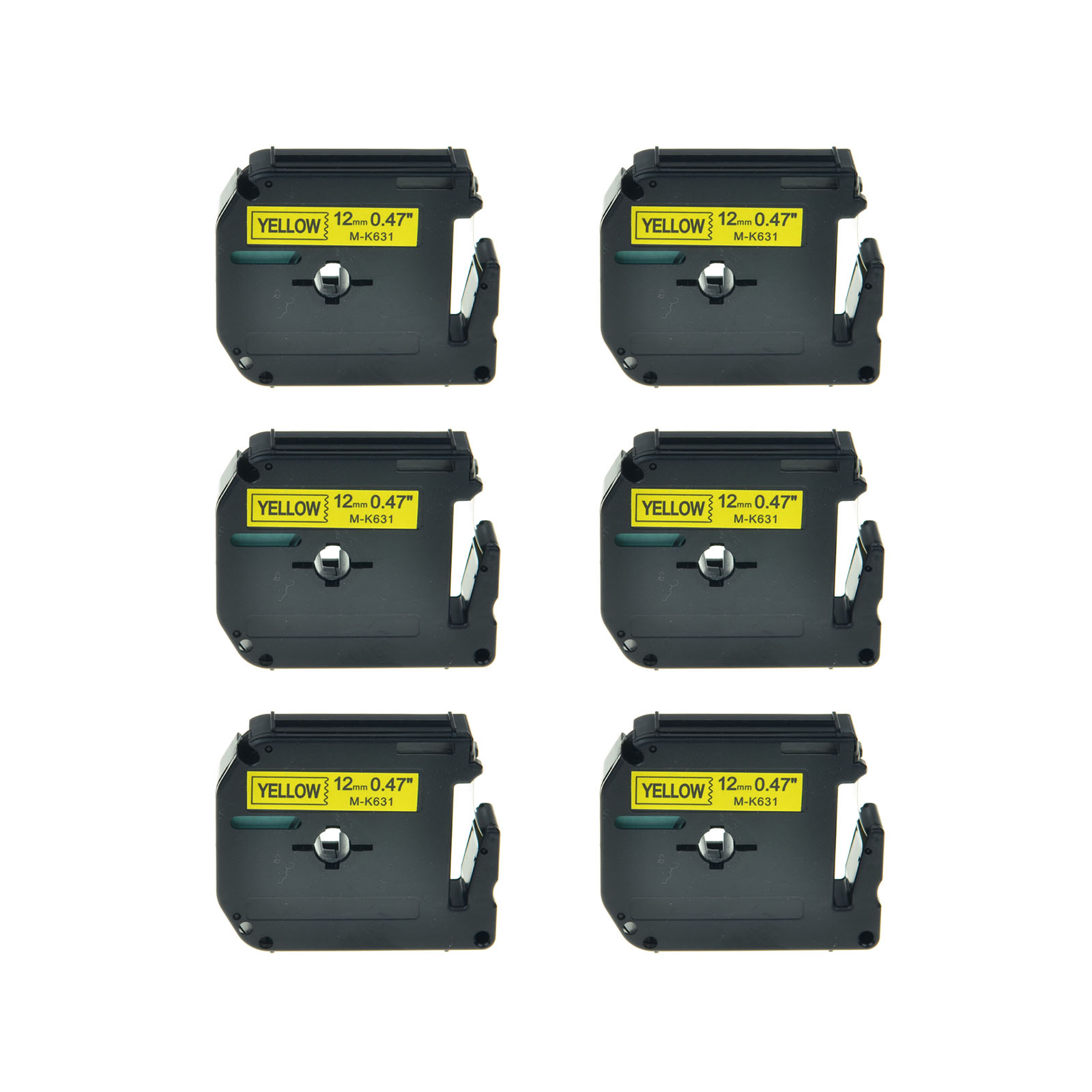 1PK Black on Yellow Tape for Brother P-touch MK631 M-K631 PT-90 12mm Label Maker