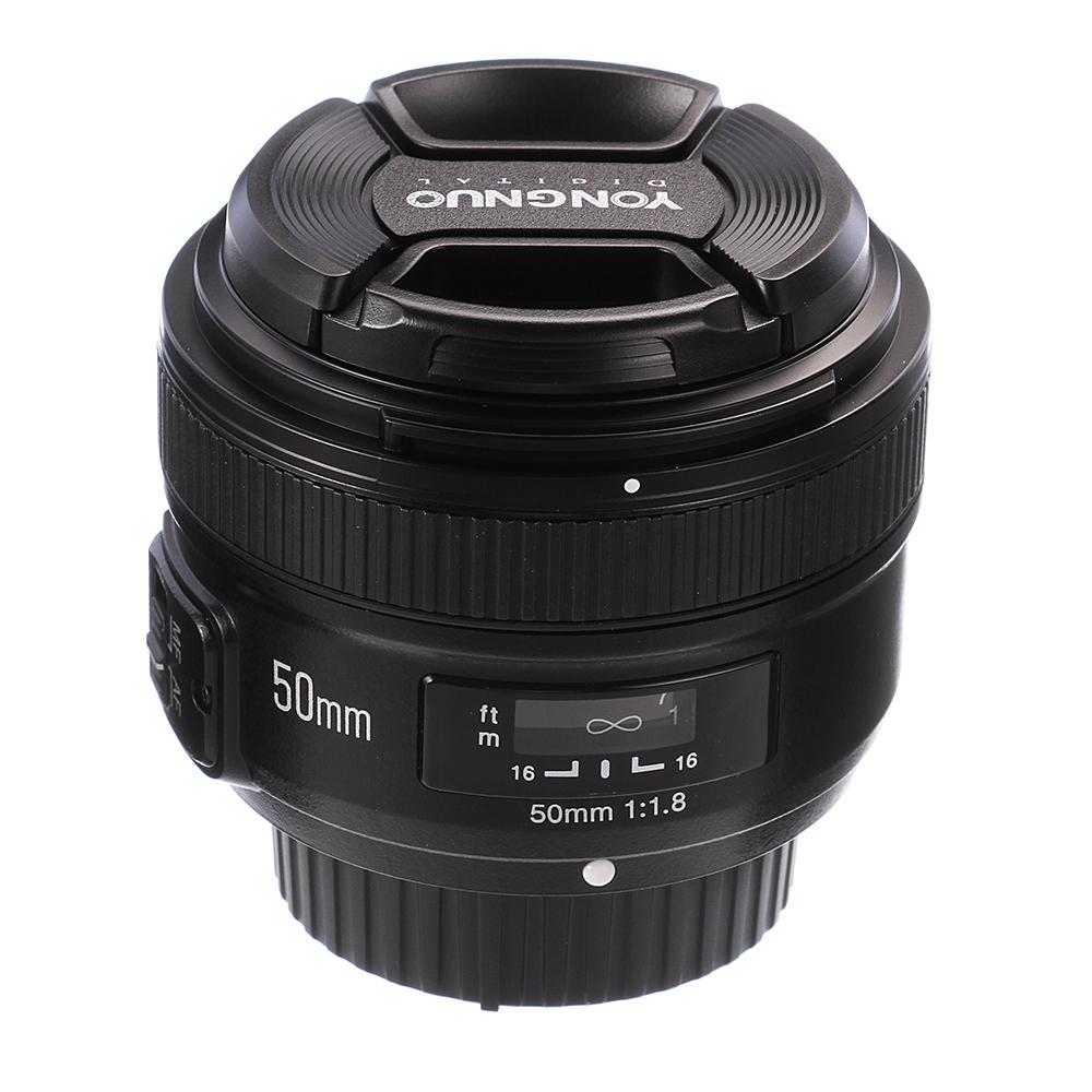 Yongnuo Yn 50mm F18 Large Aperture Af Mf Auto Manual Focus Prime For Nikon Mount F 18 Lens Dslr Camera