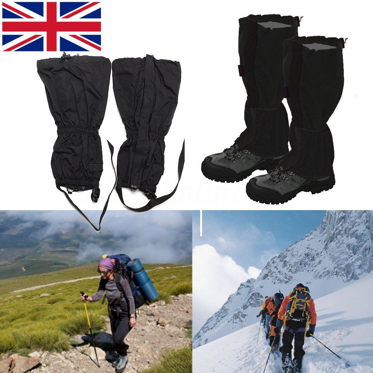 1 Pair Hiking Climbing Walking Waterproof Boot Leggings Trekking Gators Gaiter