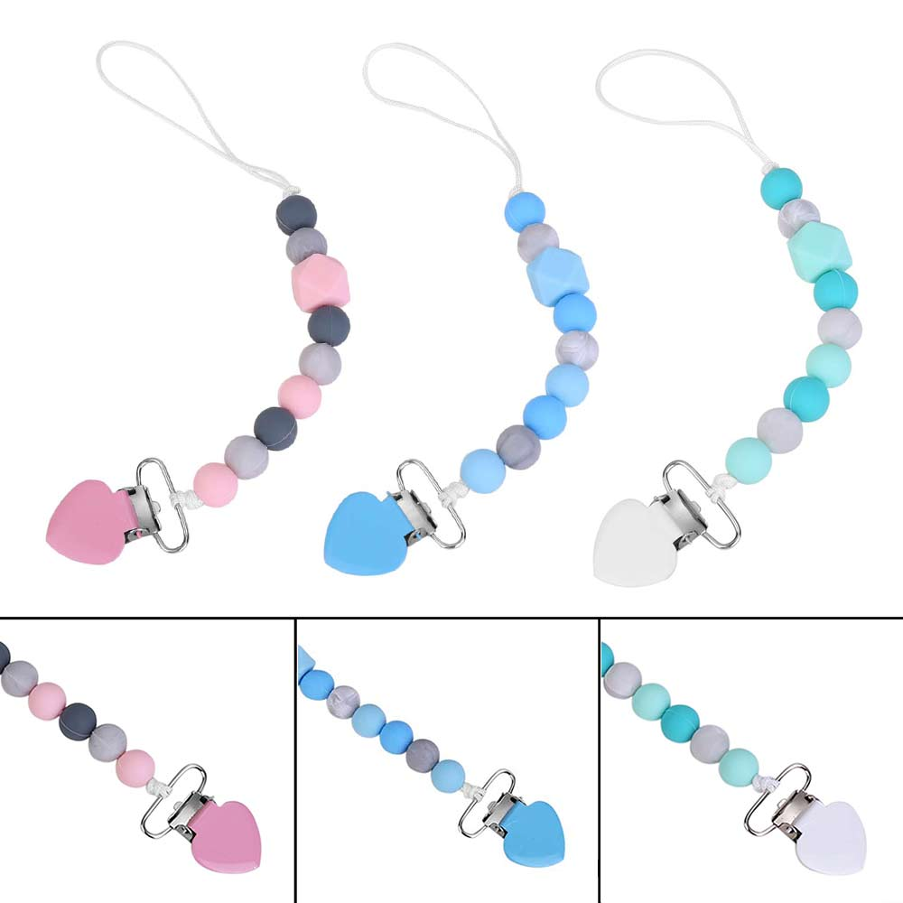 Pacifier Clips Pacifier Teething Baby Boy Teether Chain Clip Bead Dummy Holders